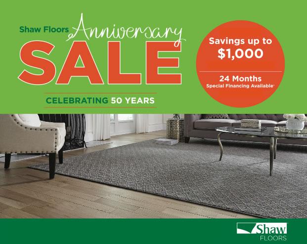 Shaw Floors Anniversary SALE DeSitter Flooring - Shaw flooring financing